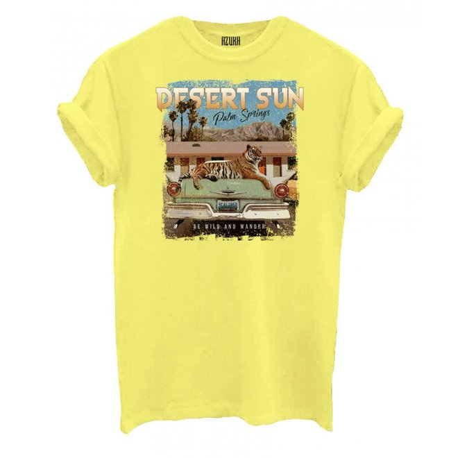 Azuka Dames t-shirt Break Desert Sun Yellow