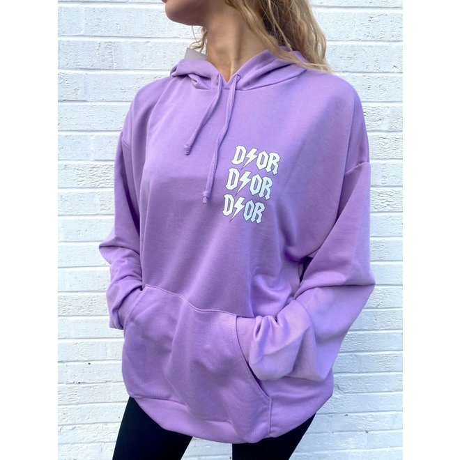 D ⚡ O R Oversized Hoodie Lila One Size
