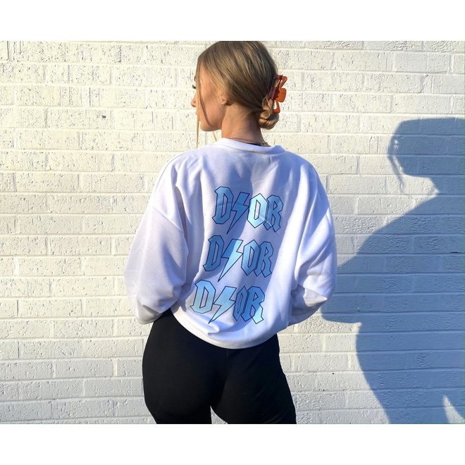D ⚡ O R Oversized Sweater Wit Blue One Size