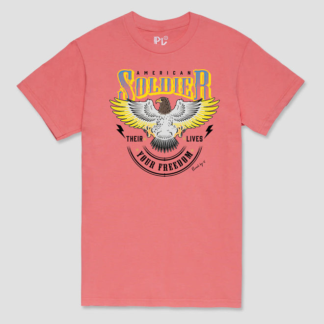 T-Shirt Amercican Soldier Coral