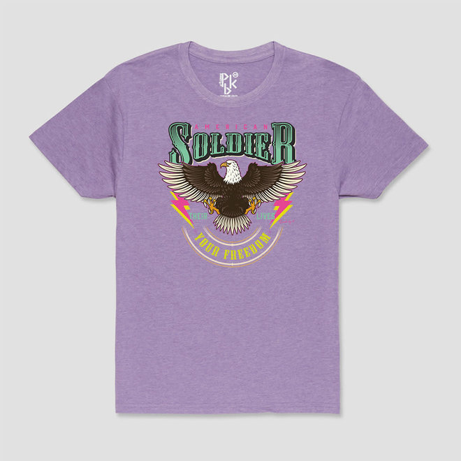 T-Shirt Amercican Soldier Lila