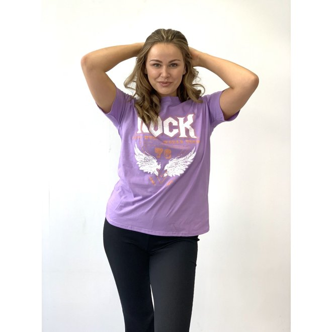 T-shirt Rock Lila