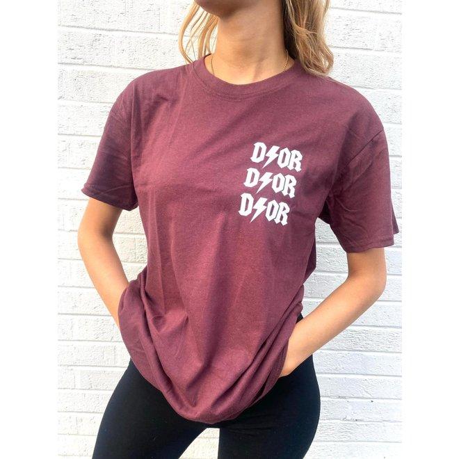 T-shirt D ⚡ O R Wine