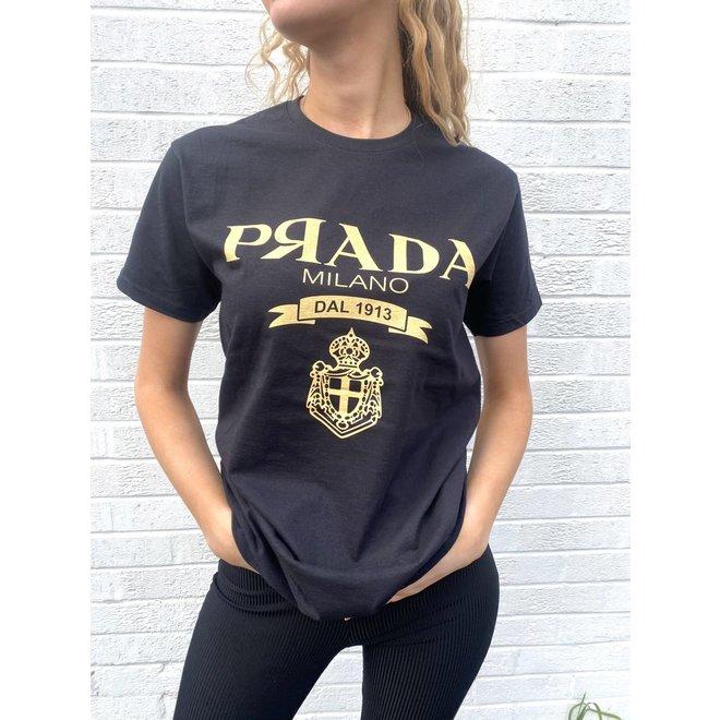 T-shirt P Я A D A Zwart