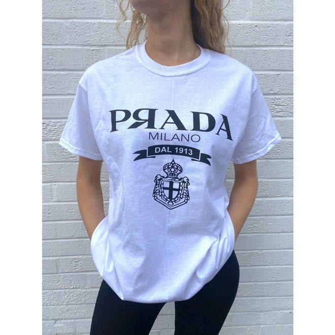 T-shirt P Я A D A Wit