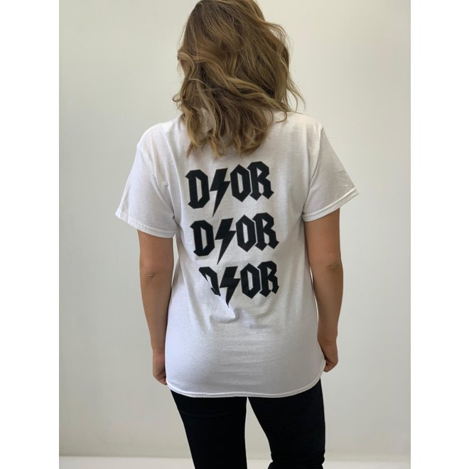 T-shirt D ⚡ O R Wit Zwart
