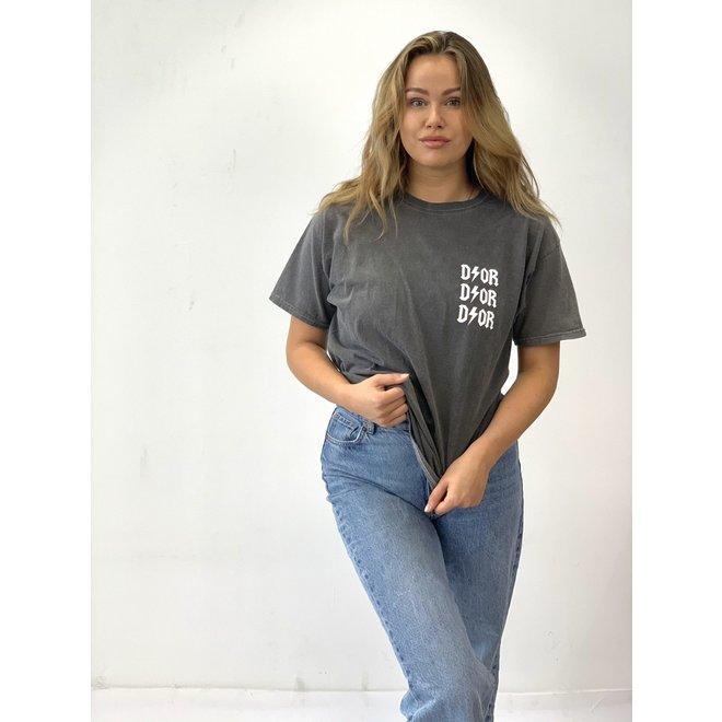 T-shirt D ⚡ O R Grijs Wit