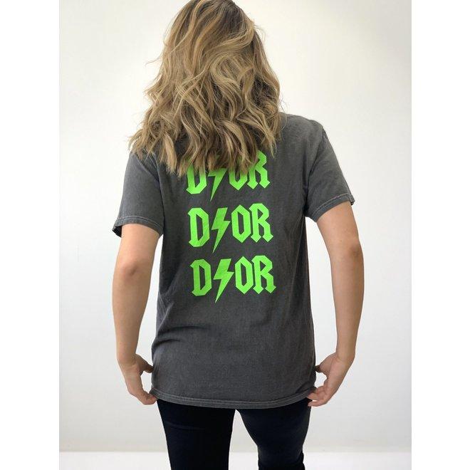 T-shirt D ⚡ O R Grijs Groen