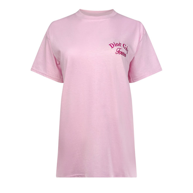 T-shirt Dior Girl Roze