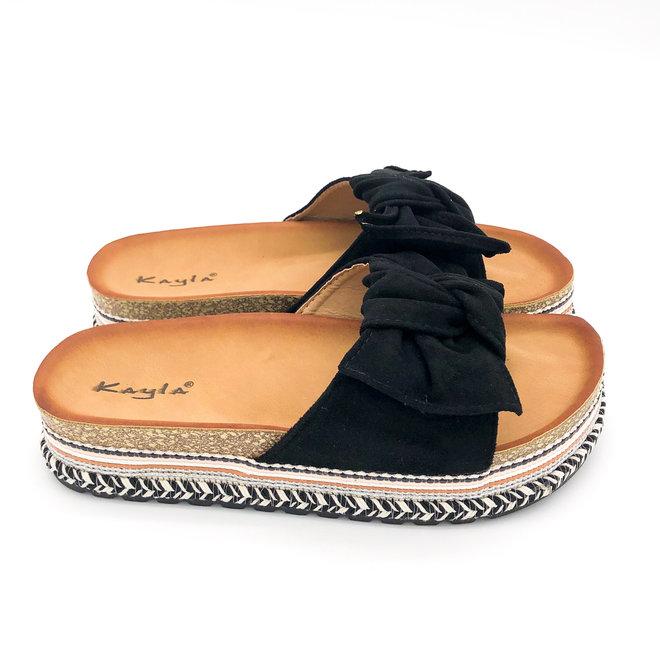 Slippers Strik Zwart