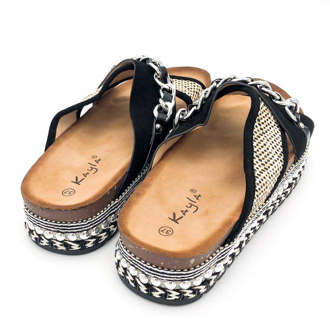 Slippers Ketting Zwart