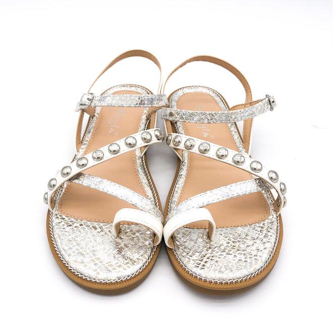 Sandaaltjes Studs Wit