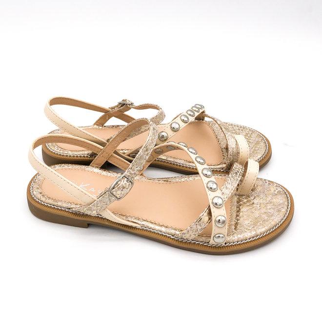 Sandaaltjes Studs Beige