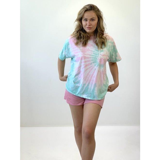 T-shirt D ⚡ O R Tie Dye Roze