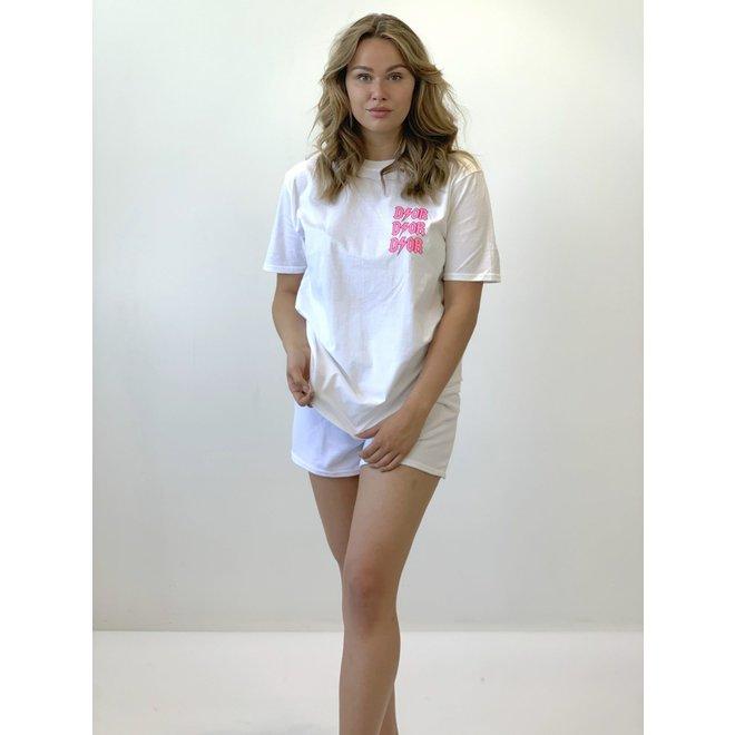 T-shirt D I O R Wit Roze