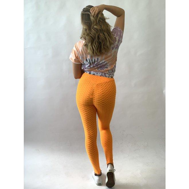Crush Legging Push Up Oranje