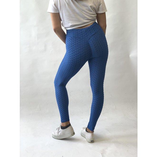 Crush Legging Push Up Blauw