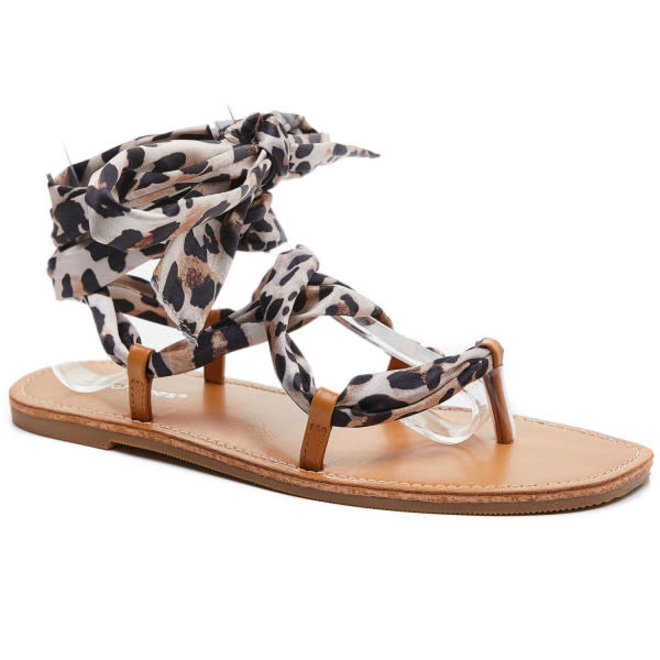 Strik Sandaaltjes Leopard