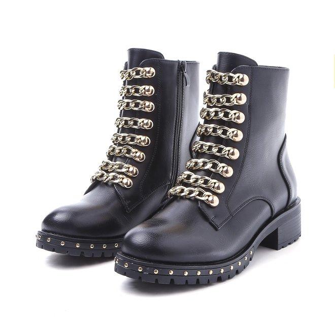 Biker boots Ketting Zwart Goud