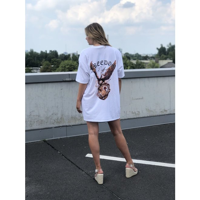 T-shirt Dress Freedom Rider Wit