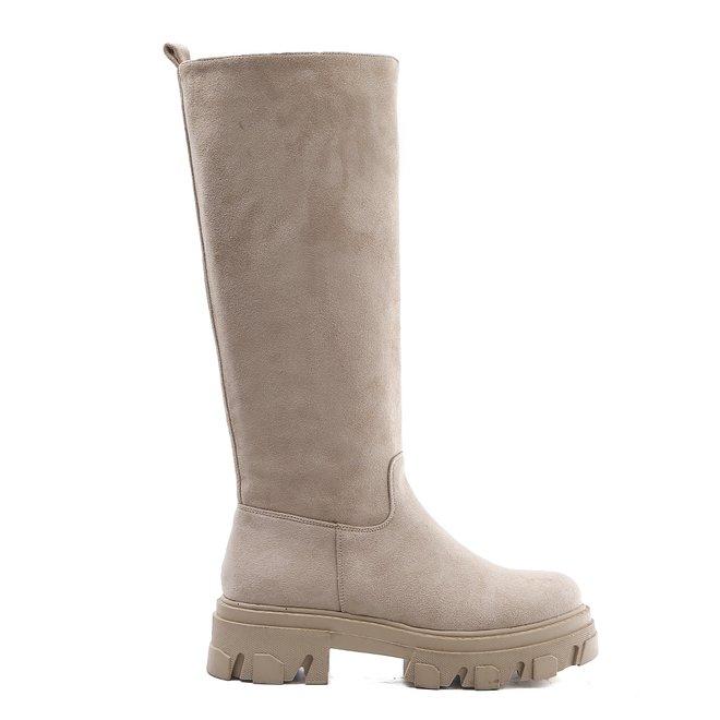Chelsea boots Hoog Beige Suède