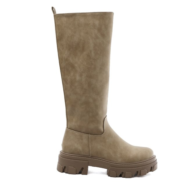 Chelsea boots Hoog Suède Taupe Khaki