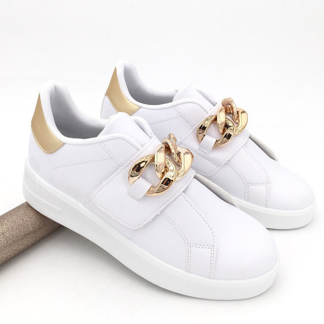 Sneakers Chain Wit Goud