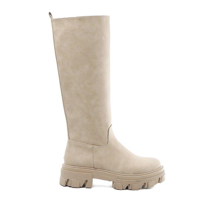 Chelsea boots Hoog Beige