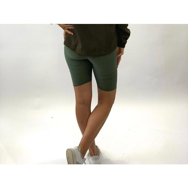 Biker Shorts Travel Khaki