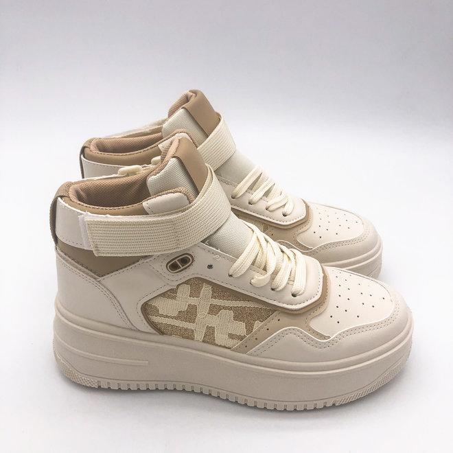 Sneakers Air Force Hoog Band Beige