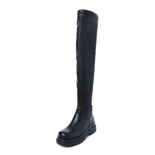 Chelsea boots Hoog Overknee Zwart