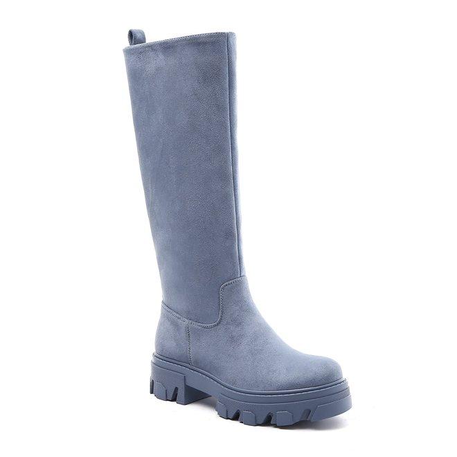 Chelsea boots Hoog Suède Blauw