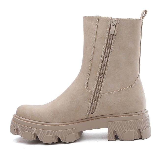 Chelsea boots plateau Beige