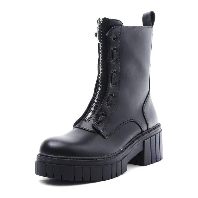 Biker boots Rits Veter Zwart