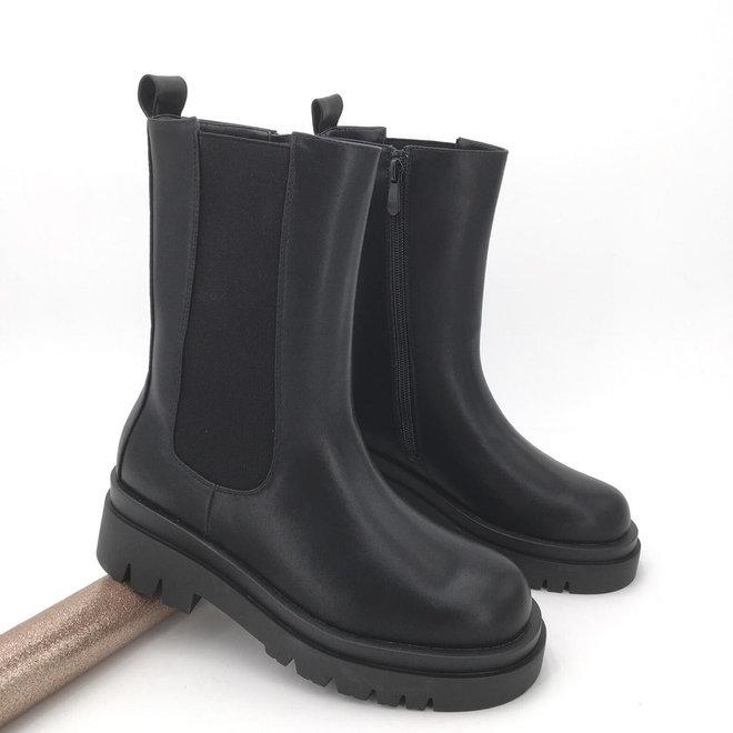 Chelsea boots Plateau Zwart
