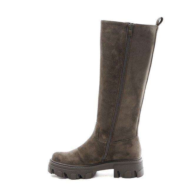 Chelsea boots Hoog Groen Suède