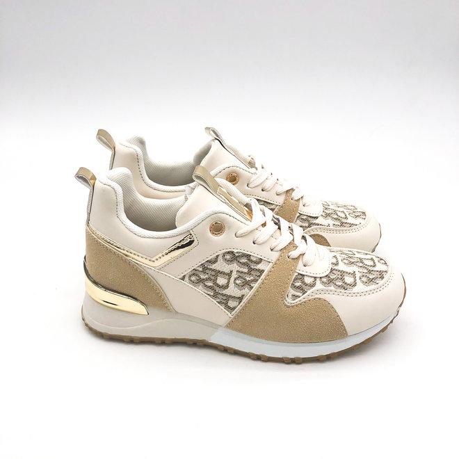 Sneakers Letters Beige
