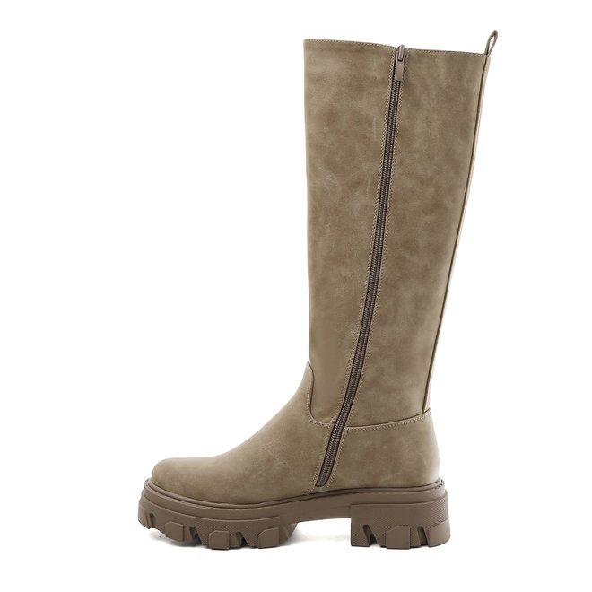 Chelsea boots Hoog Taupe Khaki