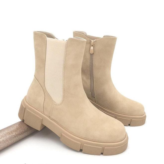 Chelsea boots Zip Beige