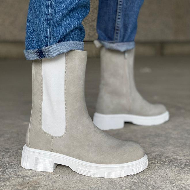 Chelsea boots Zip Grijs/Wit