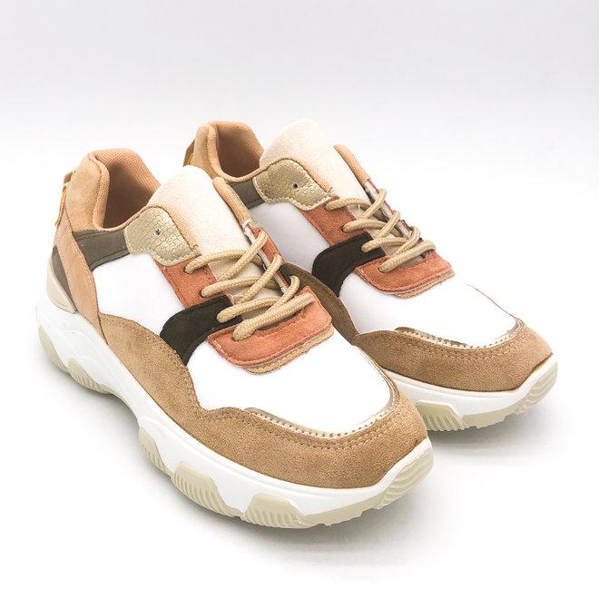 Sneakers Dad look Plateau Beige