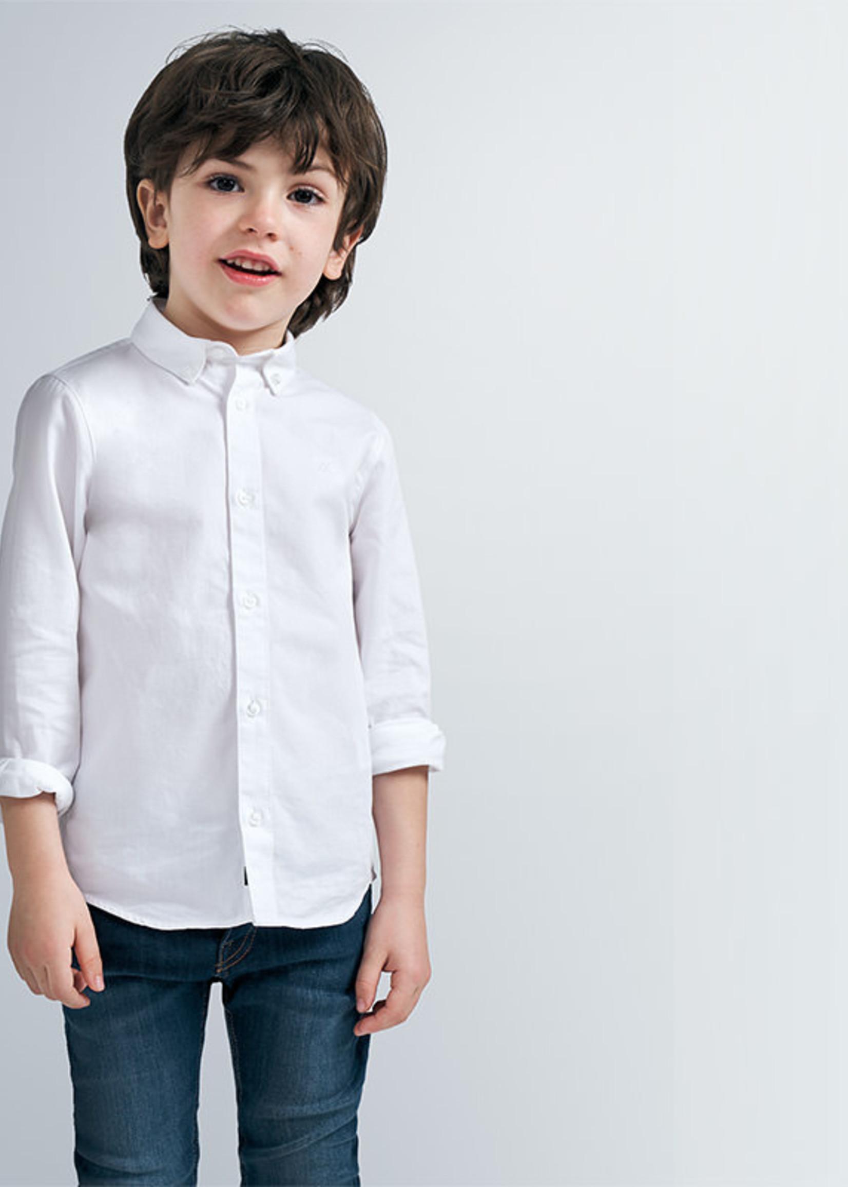 Mayoral mayoral basic l/s shirt white