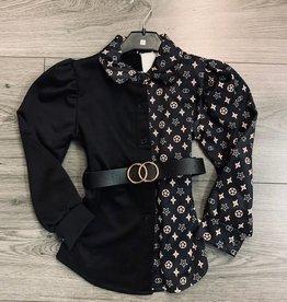 Divanis DIVANIS BLOUSE DRESS BLACK LOOK A LIKE