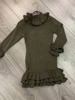 Divanis Ruffle Dress army