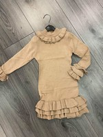 Divanis Ruffle Dress sand