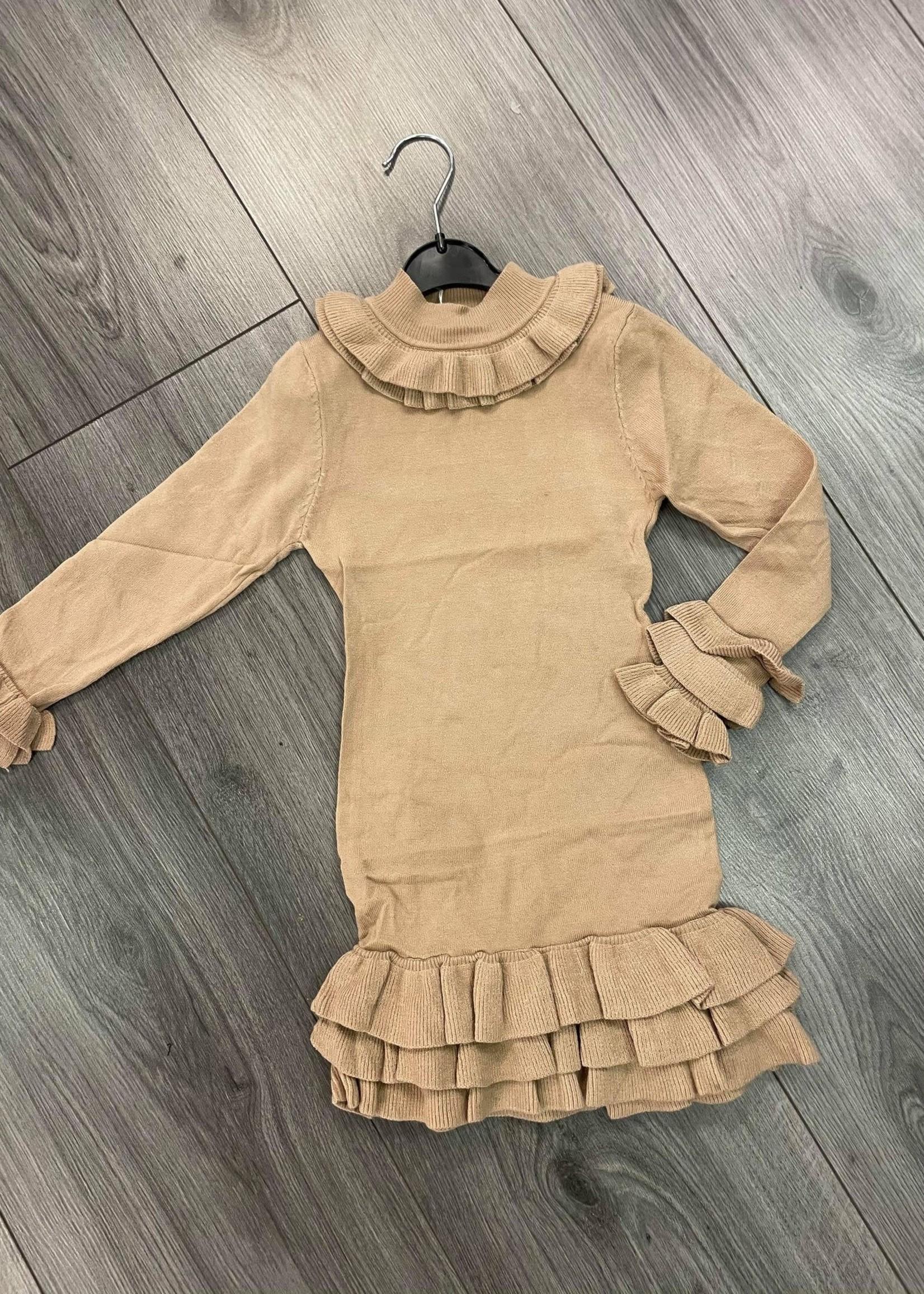 Divanis Ruffle Dress sand