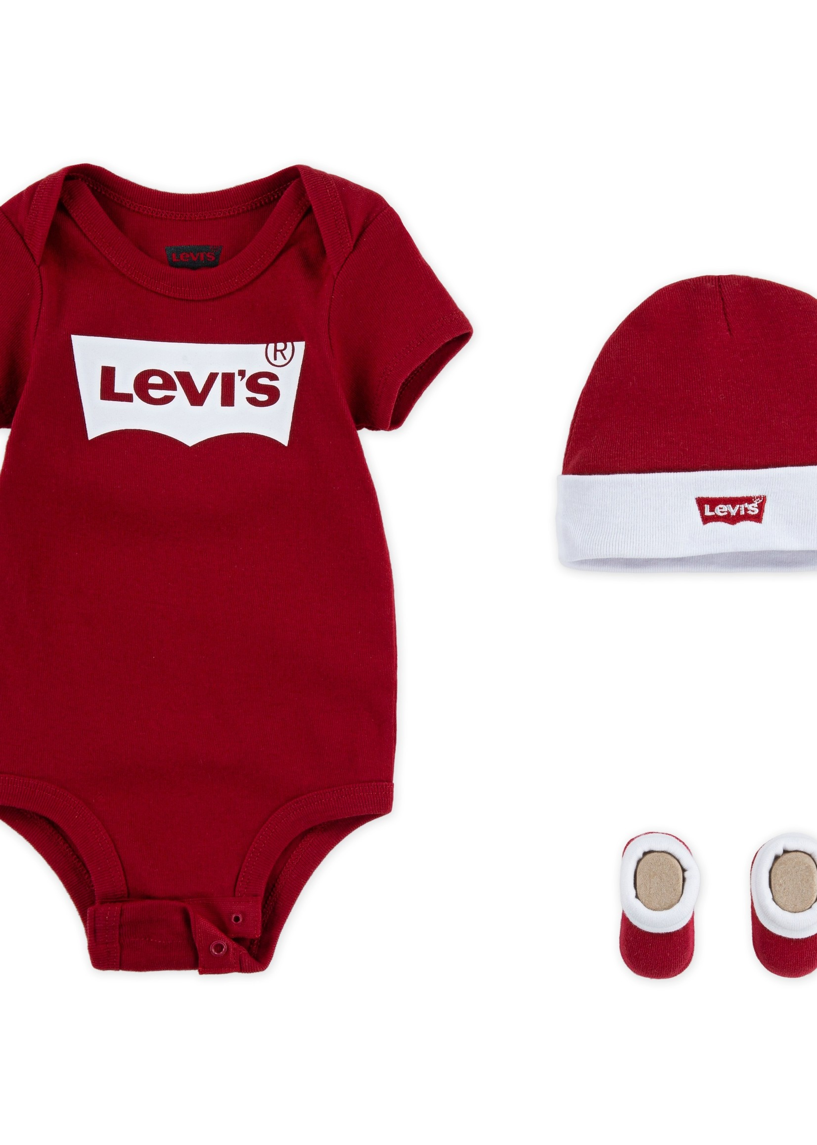 LEVIS LEVIS BATWING ONESIE HAT BOOTIE
