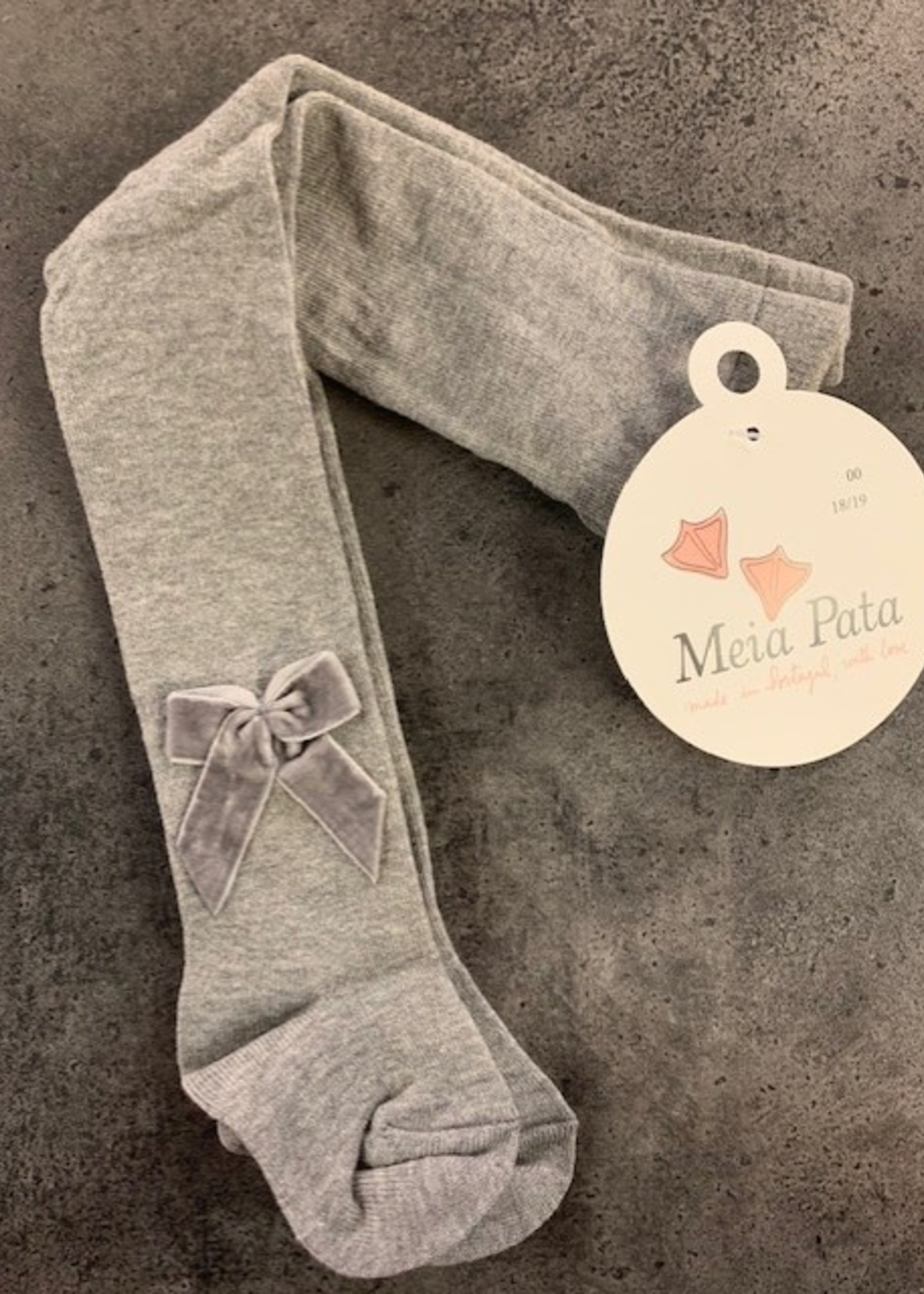 Mei pata meiepata plain tights with velvet bow