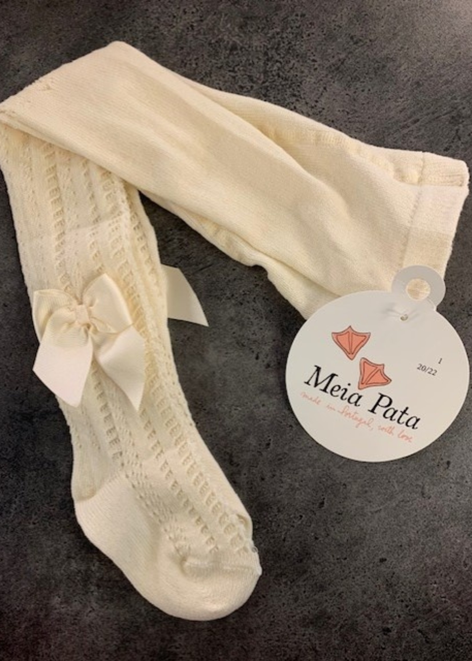 Mei pata meiepata tights with grosgrain bow