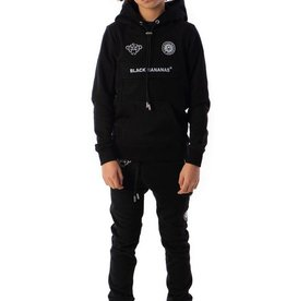 Black Bananas BLACKBANANAS JR ANORAK KANGAROO HOODY BLACK